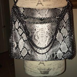 Black and White snake skin pattern purse